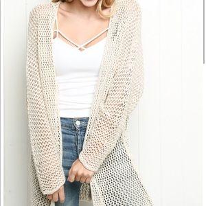 Brandy Melville crochet cardigan